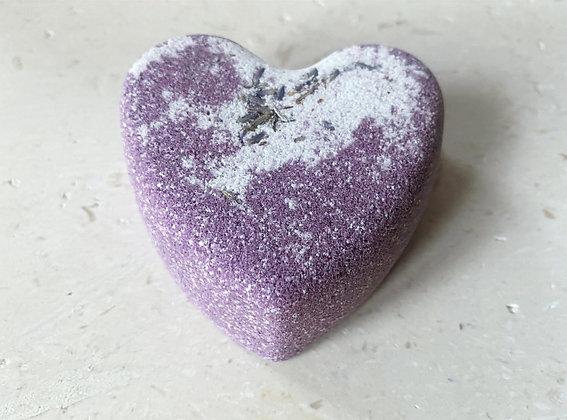 Lavendel badebombe - hjerte - 5-pkn