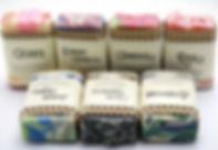 Et utvalg såper fra Såpeloftet i Søgne