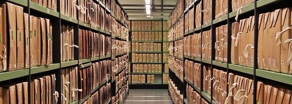 A-corridor-of-files-at-The-National-Arch
