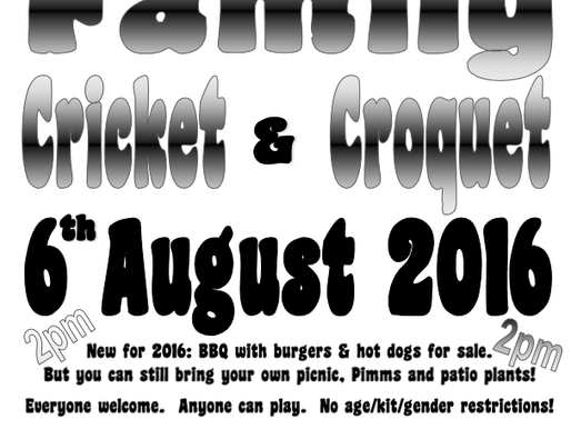 Cricket & Croquet Day 2016