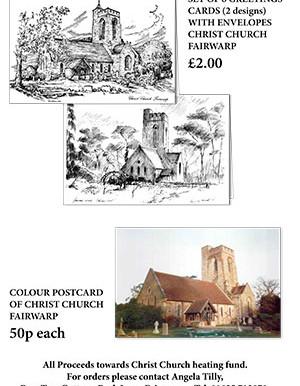 Fairwarp Christ Church - Greeting Cards and Postcards