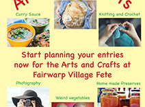 Fairwarp Fete 2019 - Arts and Crafts Categories