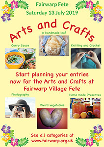 Fairwarp Fete 2019 - Arts and Crafts Categories