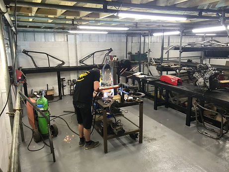 Hard Up Choppers fabrication bay