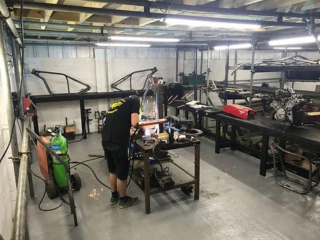 Hard Up Choppers fabrication bay