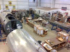 Museum hangar at Grimes Field in Urbana ohio