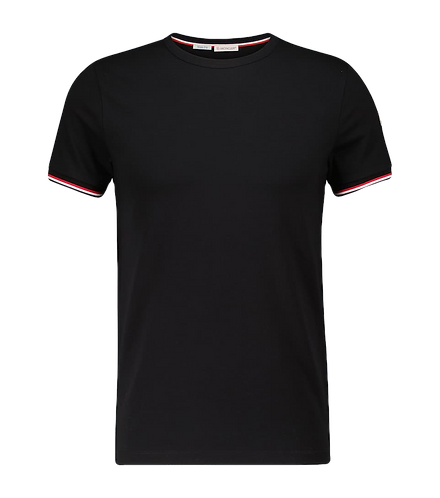 Moncler Basic T-Shirt Black