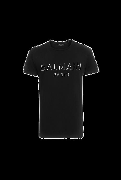 Balmain 3D Paris Logo T-shirt Black