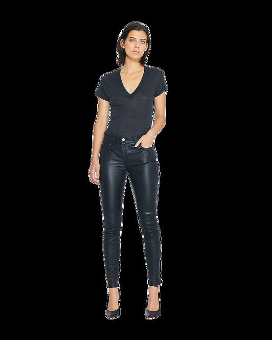 IRO Rodeo Short Sleeve V Neck T-Shirt Black