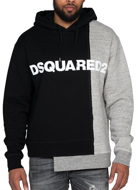 Dsquared2 Bi-Chrome Hooded Sweatshirt Black