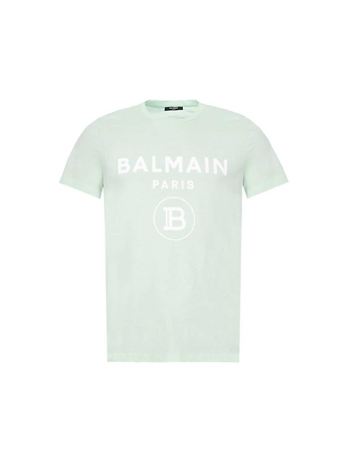 Balmain Logo T-Shirt Lime Green
