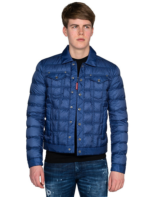 Dsquared2 Quilted Nylon Puffer Jacket Blue