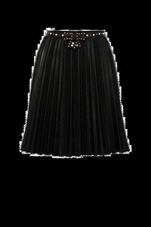 Elisabetta Franchi Pleated mini skirt black