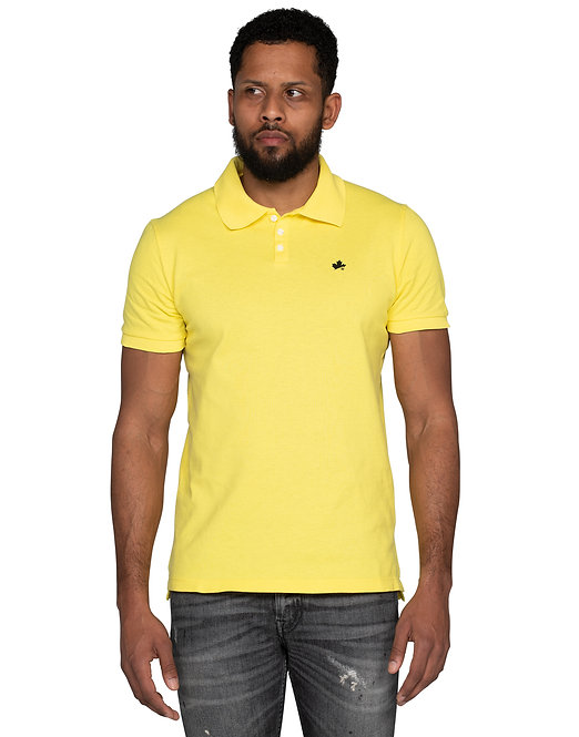 Dsquared2 Leaf Polo Shirt Yellow