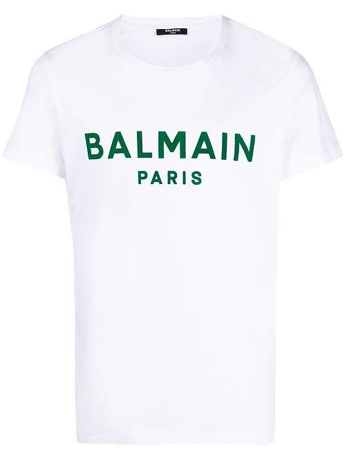 Balmain Paris Logoprint T-shirt White