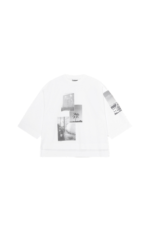 GANNI Cotton Jersey Oversized T-shirt