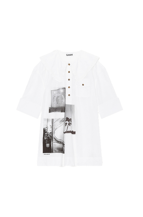 GANNI Poplin Oversized Shirt