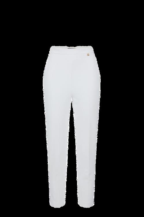 Elisabetta Franchi Crêpe Skinny Trousers Ivory