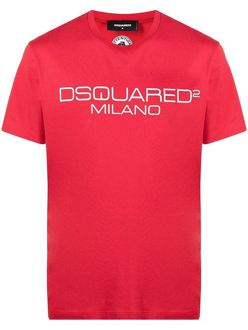 Dsquared2 Milano Logo T-shirt Red