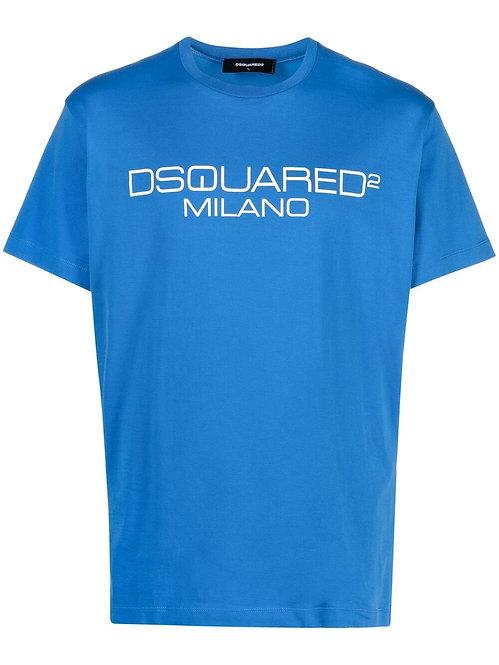Dsquared2 Milano Logo T-shirt Blue