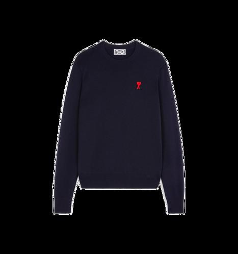 Ami Paris De Coeur Crewneck Sweater Navy Blauw