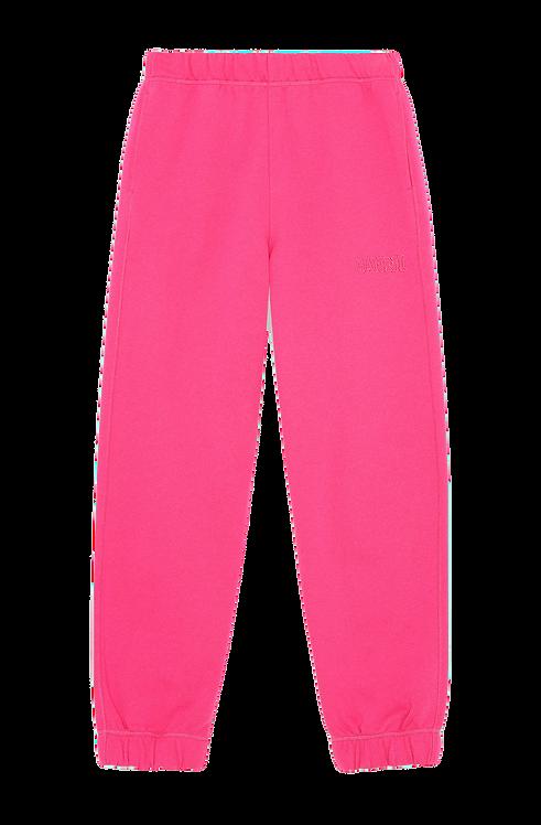 GANNI Software Isoli Elasticated Pants Pink
