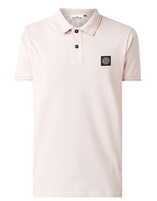 Stone Island Polo Shirt Pastel Pink