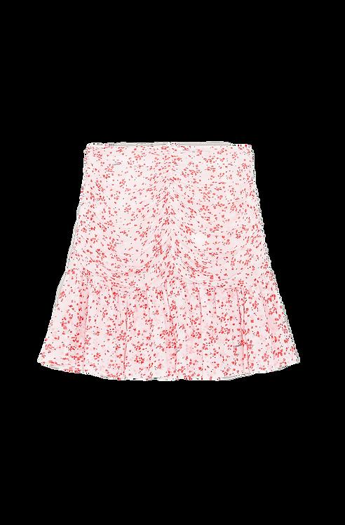 GANNI Printed Georgette Mini Skirt