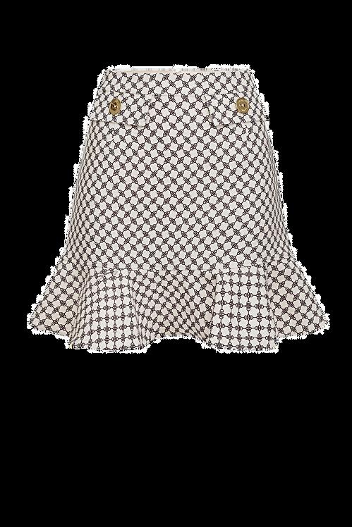 Elisabetta Franchi Mini skirt butter/black