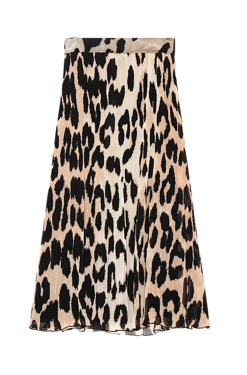 GANNI Pleated Georgette Skirt