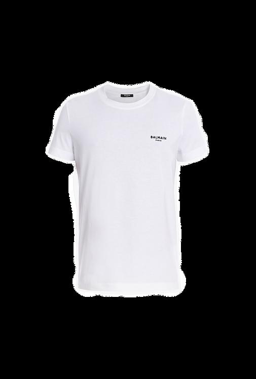 Balmain Logo T Shirt White