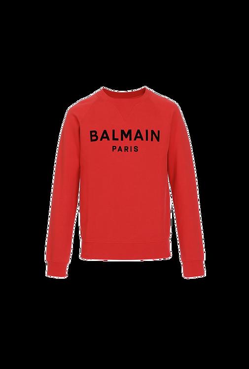 Balmain Logo Sweater Red