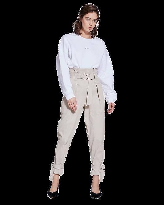 IRO Livia Oversized Crew Neck Sweatshirt White