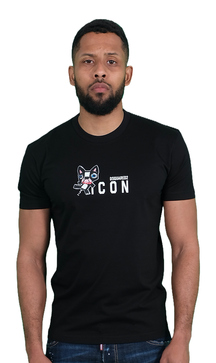 Dsquared2 Icon Dog T-shirt Black
