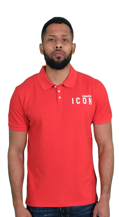 Dsquared2 Icon Polo Shirt Red