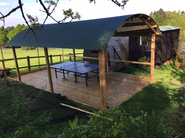 New All weather table-tennis decking