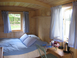 Inside shepherds hut
