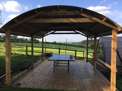 New All-weather table tennis decking