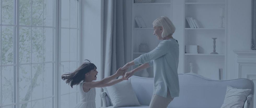 happy-mature-granny-small-granddaughter-