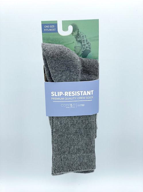 Gray Slip-Resistant Sock