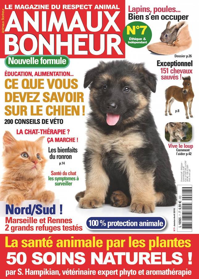 ANIMAUX BONHEUR n°7 en kiosques !  Un magazine hyper complet !