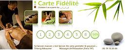 carte de fidélité Thierry Relaxation