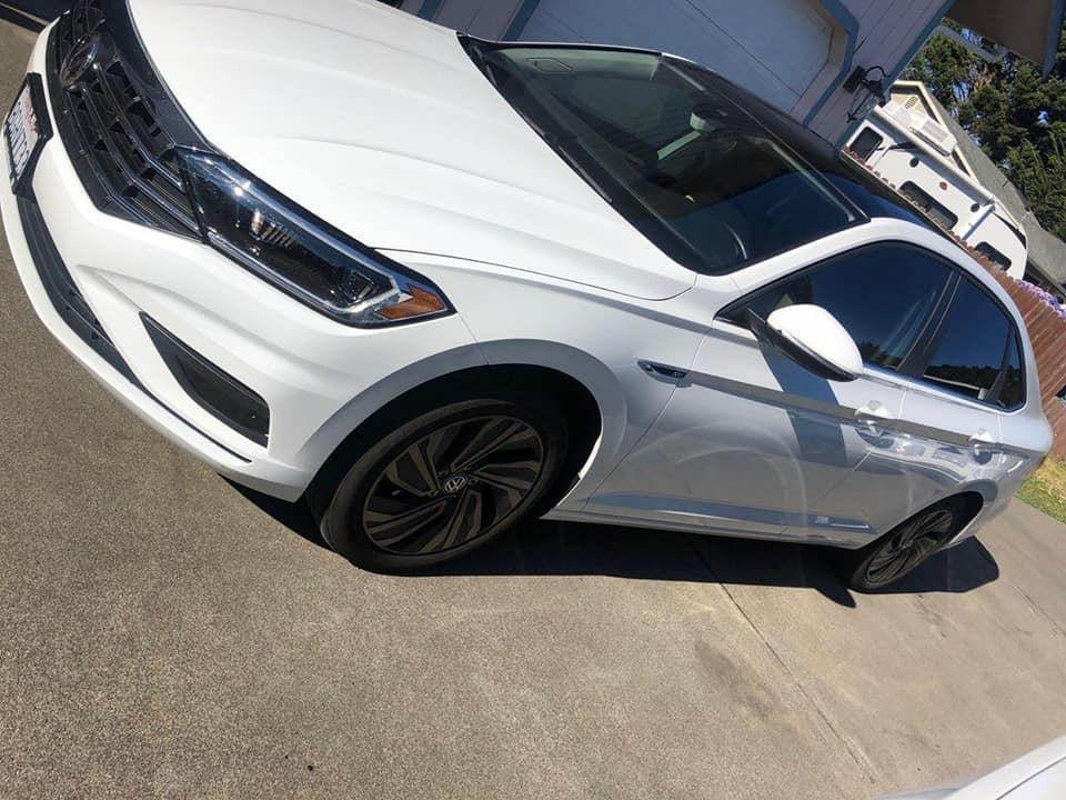 2018 VW Jetta 5% tint in the back and 35% fronts