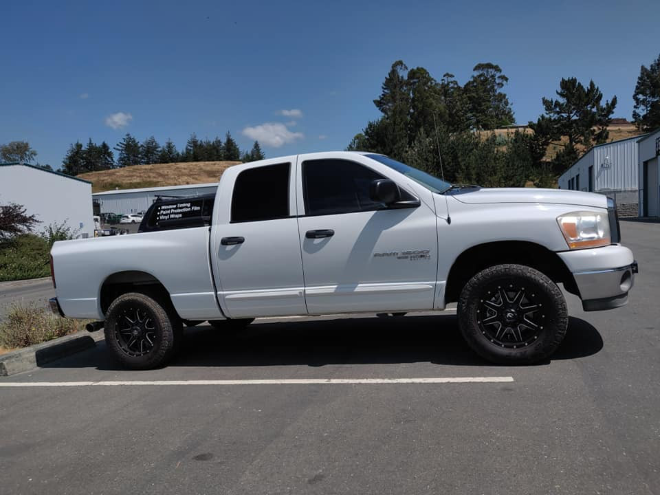 06 Ram 35% fronts 5% rear over factory shaded glass