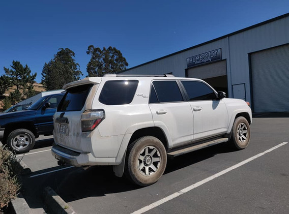 2019 Toyota 4runner 5% over factory shaded glass in the back and 20% fronts with 5% sun strip