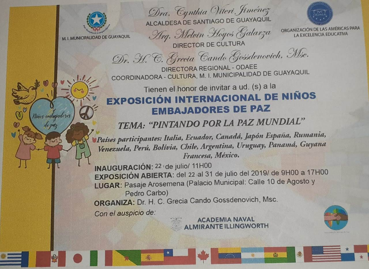EXPOSICIÓN INTERNACIONAL DE NIÑOS EMBAJADORES DE PAZ