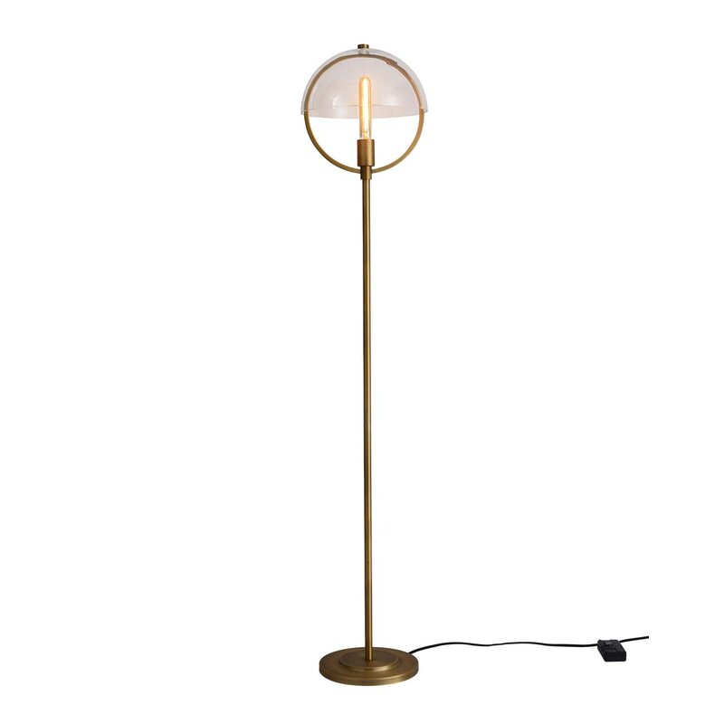 Saturnia Floor Lamp Gunmetal With Smoked