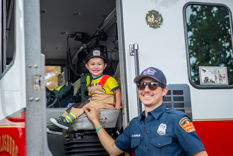 Fun on the fire truck