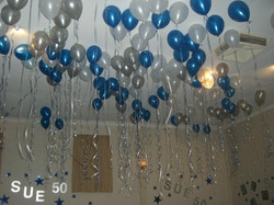 Floating Helium Balloons