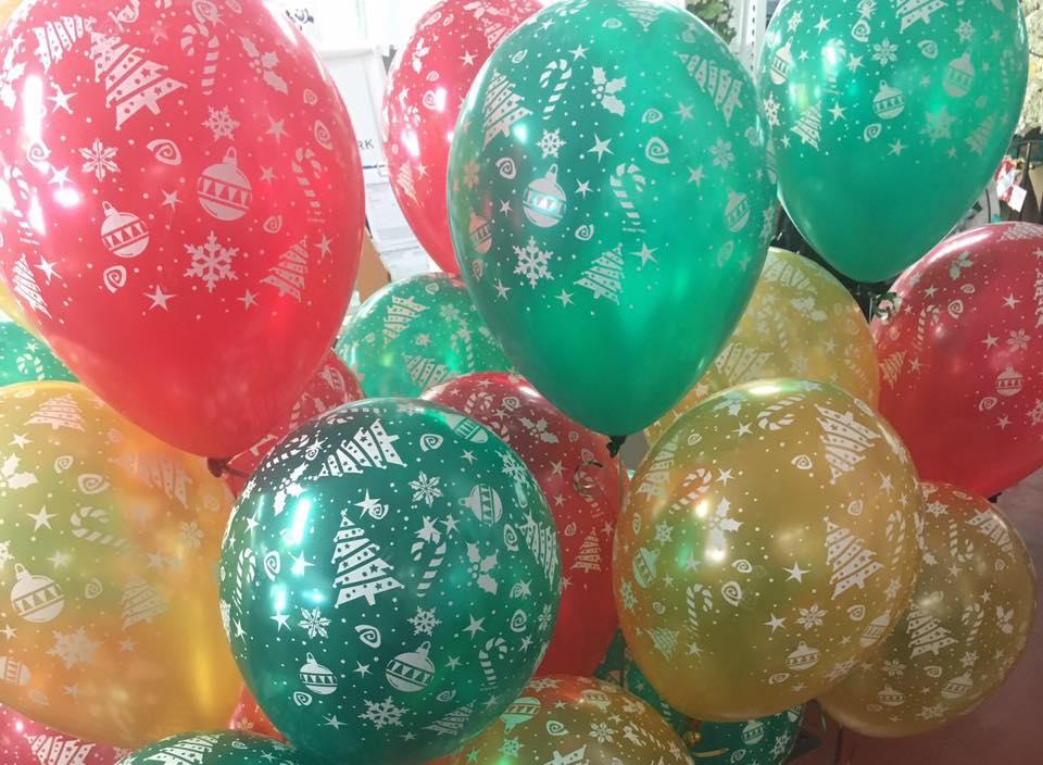 Christmas Print Balloons